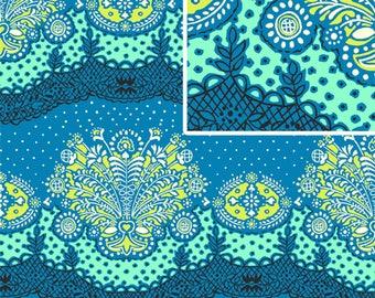 "Amy Butler PWAB079 Nana Chic Cloud Lark Dream  Sewing Quilting BTHY Rowan Westminster Half Yard 18"" Quilt Fabric Floral 100% Cotton OOP New"