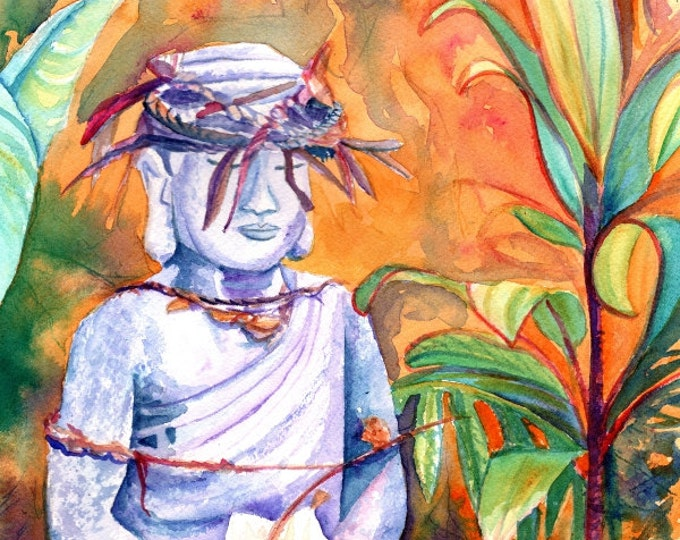 buddha art print meditation paintings zen lotus peaceful peace energy prayer praying soul inspirational artwork kauaiartist Hawaii art