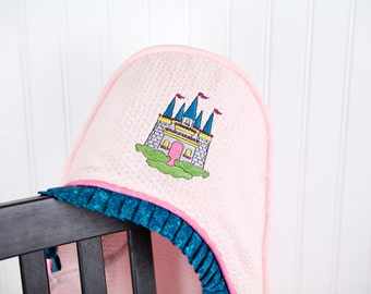personalized hooded towel princess fairy tale castle