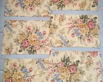 Vintage Floral Ralph Lauren Napkins. Vintage Classic Cotton Floral Ralph Lauren Placemats. Vintage Americana cotton napkins. Made in USA.