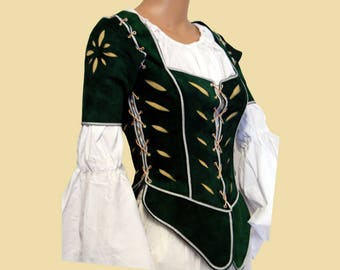 Slashed Landsknecht Doublet for women, Larp, Fantasy, medieval