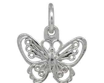 ON SALE Silver Jewelry Butterfly Charm Necklace