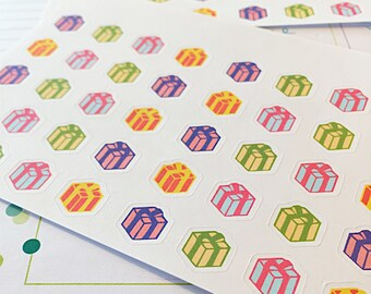 40 Birthday Present Reminder Planner Stickers- perfect to keep track of birthdays in your Erin Condren planner or wall calendar