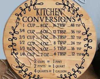 Kitchen Conversion Vine circle   SVG, PNG, JPEG