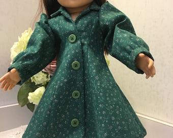 Hunter green longsleeved day dress