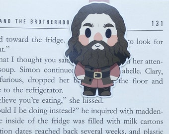 Hagrid - Magnetic bookmark ||  hp inspired, book lover gifts, witchcraft, magic, wizard, always, wizardry, bookmark, school of wizardry