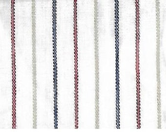 "Yarn Dyed Pinstripe Cotton Shirting Fabric 1 yd + 34"" x 48"" Wide"