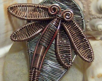 50% off Tutorial Sale-Tutorial for Dragonfly Pendant.