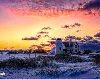 Stage Harbor Lighthouse Sunrise