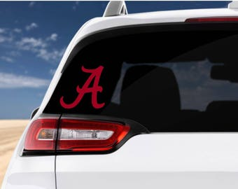 Alabama Crimson Tide Decal, Alabama Decal, Car Decal, Roll Tide, SECFootball, College Football Decal, Laptop Decal