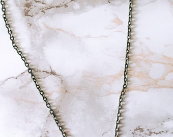 Antique Gold Beaded Bar Necklace