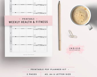 Fitness Planner, Weekly Fitness Planner, Wellbeing Planner, Workout Tracker, Nutrition Tracker, Health Journal, Fitness Journal, Macro Plan