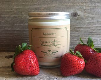 Summer Solstice Fresh Strawberry Candle