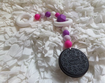 Biscuit-Silicone Teething String-Baby Teether-Baby Shower Gift-Teether Toy-Silione Toy