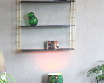 TOMADO shelf wall 1950 gold black wired mid century Structure