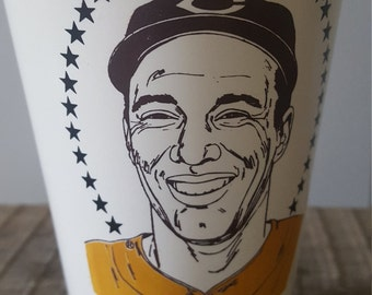 The Great Bob Feller of the Cleveland Indians 7-Eleven Hall of Fame Plastic Slurpee Cup