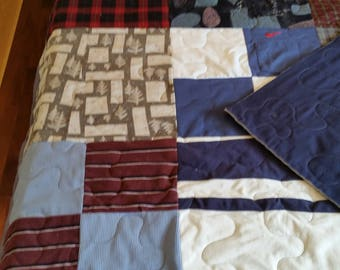Longarm quilting Twin size allover large stippling