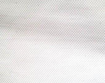White cotton piqué