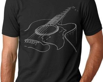 Acoustic Guitar T shirt Musician t shirts guitarist shirts Gifts for men Guitar tees Music shirts Bass guitar shirt Gifts for guys dads him