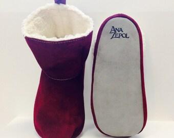 Unisex - Elfie - Slipper Boot - Suede boot - Leather boot - Travel essential