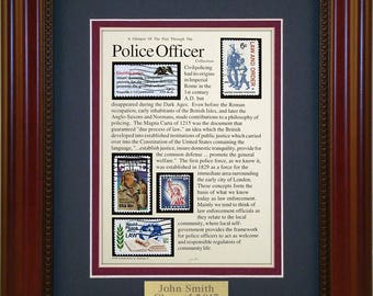 Police Officer 4502 - Personalized Framed Collectible (A Great Gift Idea)