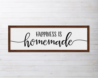 Happiness Is Homemade svg | Farmhouse svg | Sign | Wood Sign | SVG | DXF | JPG | cut file