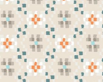 Crochetting Clouds, Wanderer, Art Gallery Fabrics, Off white nursery fabric, Fabric by the yard, WAN-13304