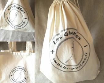 """Les Ginettes"" cotton tote bag"