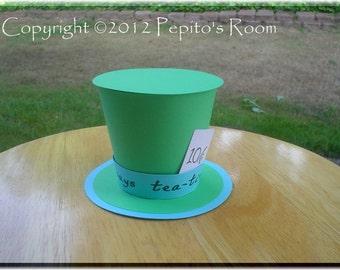 Alice In Wonderland Top Hat Centerpiece - Color Printable PDF- Mad Hatter - PR