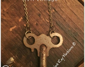 Vintage Clock Key Necklace - Gypsy -  Clock Key - Key - Clock