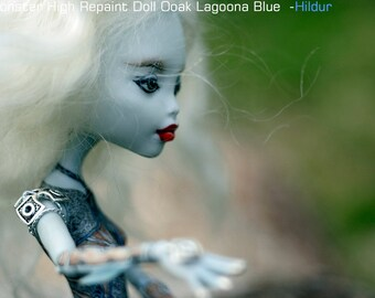 Monster High Repaint Doll Ooak Lagoona Blue  -- Hildur / Battle in Old Norse Icelandic Language