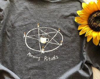 Morning Rituals hand painted tee