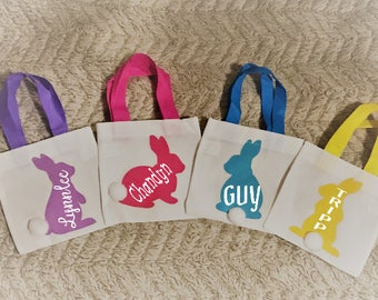 Personalized Mini Easter Bag; Easter Bunny Bag; Mini Easter Tote; Small Easter Bag; Easter Gift Bag; Easter Party Bag; Kids Easter Bag