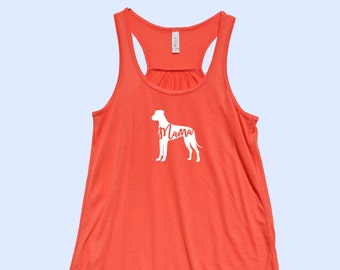 "Great Dane ""MAMA""  (with natural ears) - Fit or Flowy Tank"