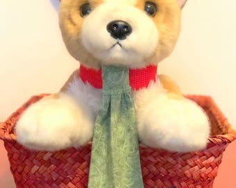 Sage green dog necktie for any day use
