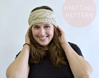 Instant Download Knitting Pattern - Womens Earwarmer Pattern Knit Earwarmer Pattern  Knit Headwrap Pattern Knit Turban Womens Accessories