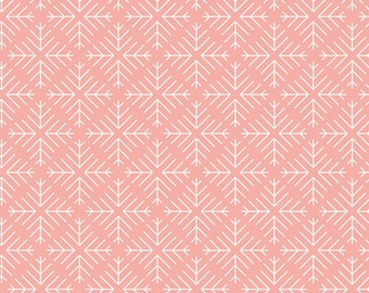 Caught Snowflakes in Blush from Curiosities by Jeni Baker for Art Gallery Fabrics