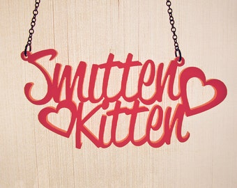 Smitten Kitten Necklace - Laser Cut Necklace (C.A.B. Fayre Original Design)