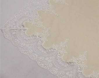 100% cashmere lace trim baby blanket