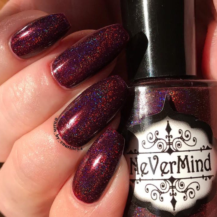 Christmas Mass-acre Burgundy Holographic Nail Polish