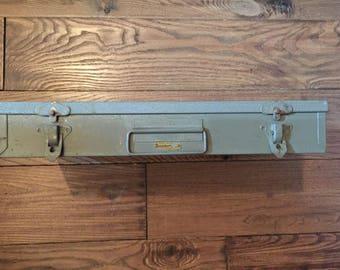 Vintage Brumbers Steel Metal Slude Film Case Storage