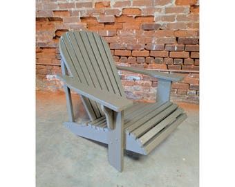 WIDE Classic Style Adirondack Chair. Made from Poly Lumber - All Weather and Maintenance Free!