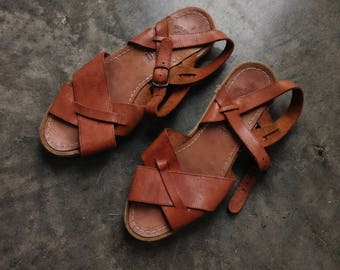 Classic Italian Leather Sandals 38 7.5 / 8