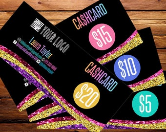 Cash Cards, Free Fast Personalization ,  Money Card, Digital Files,  Bucks, Home Office Approved fonts and colors! ,Price Cards Signs