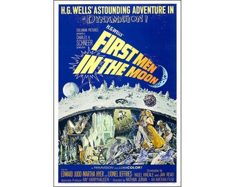 First Men In The Moon Movie Poster Print - 1964 - Sci-Fi - 1 Sheet Artwork