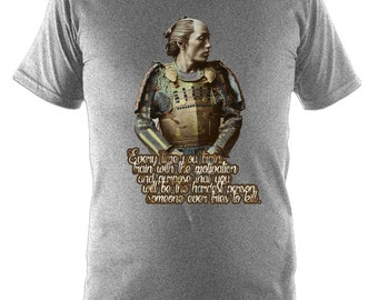 Every Time You Train T-Shirt - Tee Top Gift Grey - BJJ MMA Samurai Brazilian Jiu-Jitsu Motivation Inspiration
