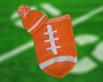 Univ of Tennessee Baby Boy Football Cocoon (Newborn to 3 months)