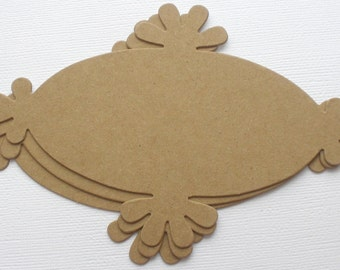 ORNATE NOTES - Chipboard Die Cuts - STYLE 5 -  Bare Label Mats