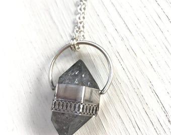 Prisma- Smoky Elestial Quartz Necklace