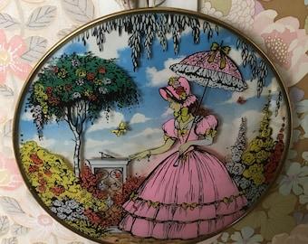 Vintage Crinoline Lady Wall Plaque